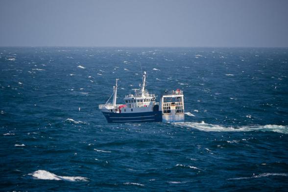 Bateau de pêche, mer du Nord.