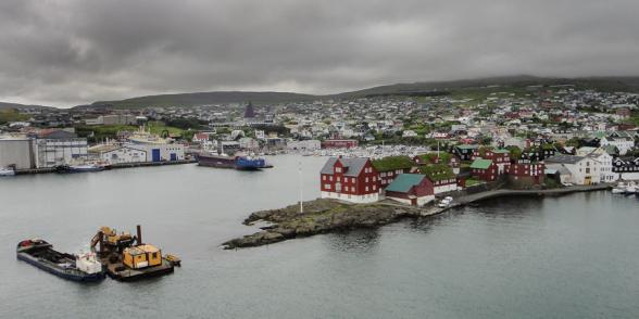 Arrivée du Norrona à Tórshavn, Iles Féroé.
