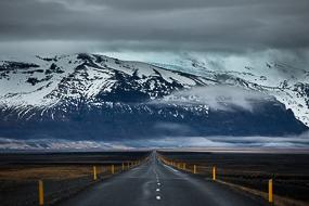 Route N°1 en direction de Skaftafell, Islande