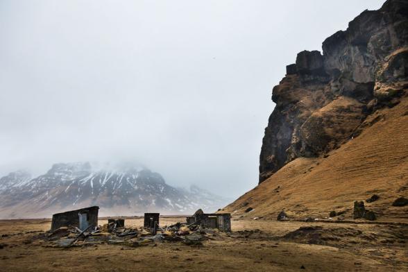Paysage le long de la route N°1, à proximité de Skogafoss, sud de l'Islande