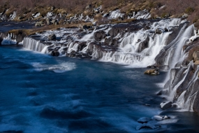Les cascades d'Hraunfossar (les chutes de la lave)