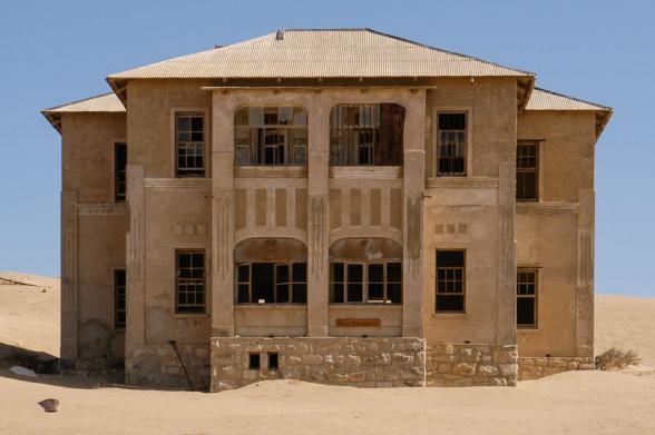 La maison du contremaître, Kolmanskop, Namibie