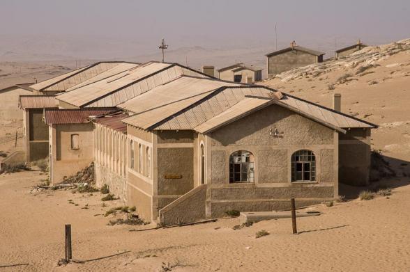 L'hôpital, Kolmanskop, Namibie