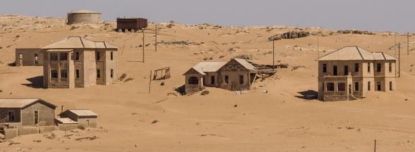 Les maisons de Maîtres, Kolmanskop, Namibie