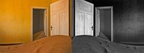 Intérieur ensablé, Kolmanskop