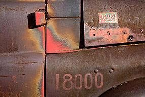 Rouille sur vieux camion, Antelope Island, Utah, USA, 2007