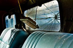 Intérieur vieux camion, Antelope Island, Utah, USA, 2007