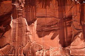 Paroi rocheuse ocre, Utah, USA, 2007