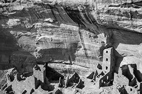 Mesa verde, Colorado, USA, Noir et Blanc, 2007, en forme d'hommage à Ansel Adams