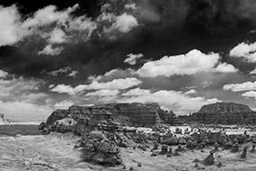 Goblin State Park, Utah, USA, noir et blanc 2007
