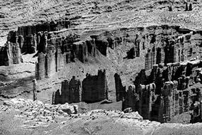 Panorama Canyonlands NP, Utah, USA, noir et blanc, 2007