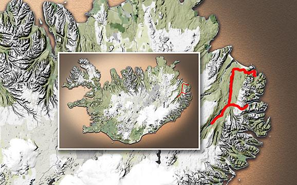 Carte du voyage Islande - 16/06/2011
