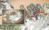 Carte du voyage Islande - 21/06/2011