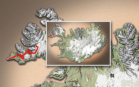 Carte du voyage Islande - 24/06/2011