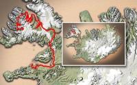 Carte du voyage Islande - 25/06/2011