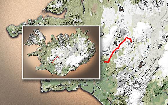 Carte du voyage Islande - 29/06/2011