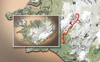 Carte du voyage Islande - 30/06/2011
