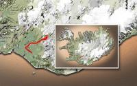 Carte du voyage Islande - 01/07/2011