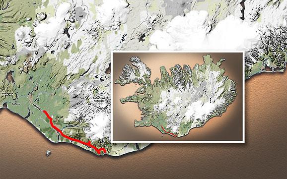 Carte du voyage Islande - 02/07/2011