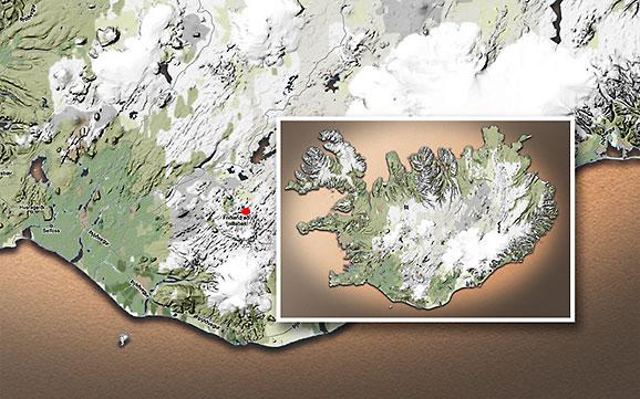 Carte du voyage Islande - 05/07/2011