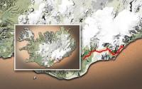 Carte du voyage Islande - 08/07/2011