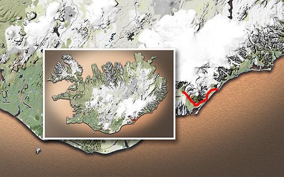 Carte du voyage Islande - 09/07/2011