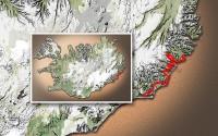 Carte du voyage Islande - 11/07/2011