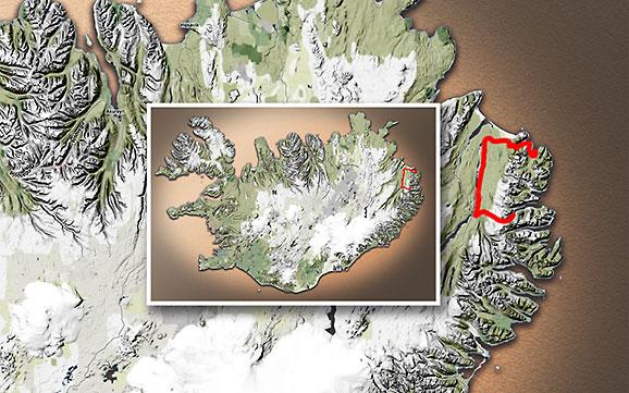 Carte du voyage Islande - 13/07/2011