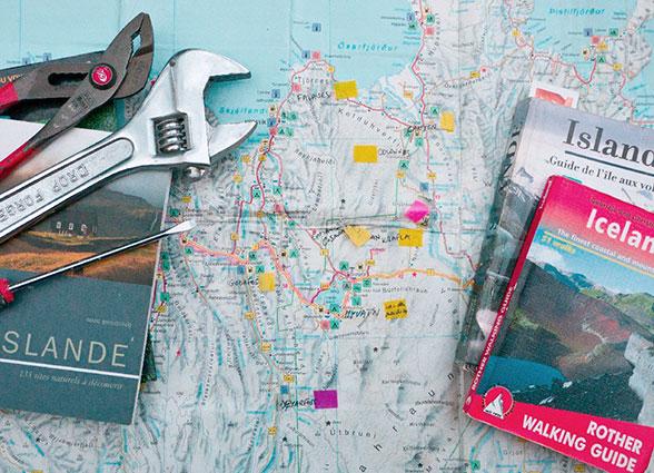 Illustration Préparation du voyage en Islande été 2011
