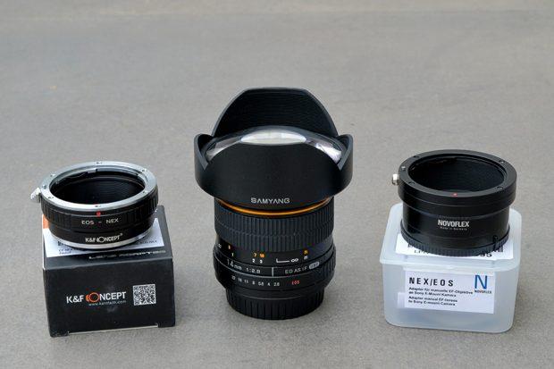 Samyang 14mm f2.8 et adaptateur de monture Novoflex vs KF Concept