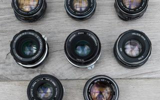 8 objectifs vintage de 50mm de focale pour test de bokeh sur Sony A7RII