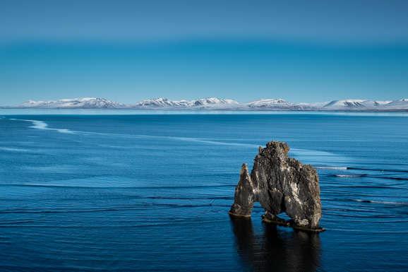 Le monolithe basaltique : Hvitserkur dans la péninsule de Vatnsnes, dans le nord de l'Islande