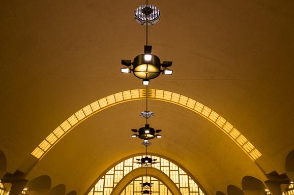 Les halles de Boulingrin, à Reims, qui abritent un marché couvert, construites dans les années 1925, dans un style Art Déco