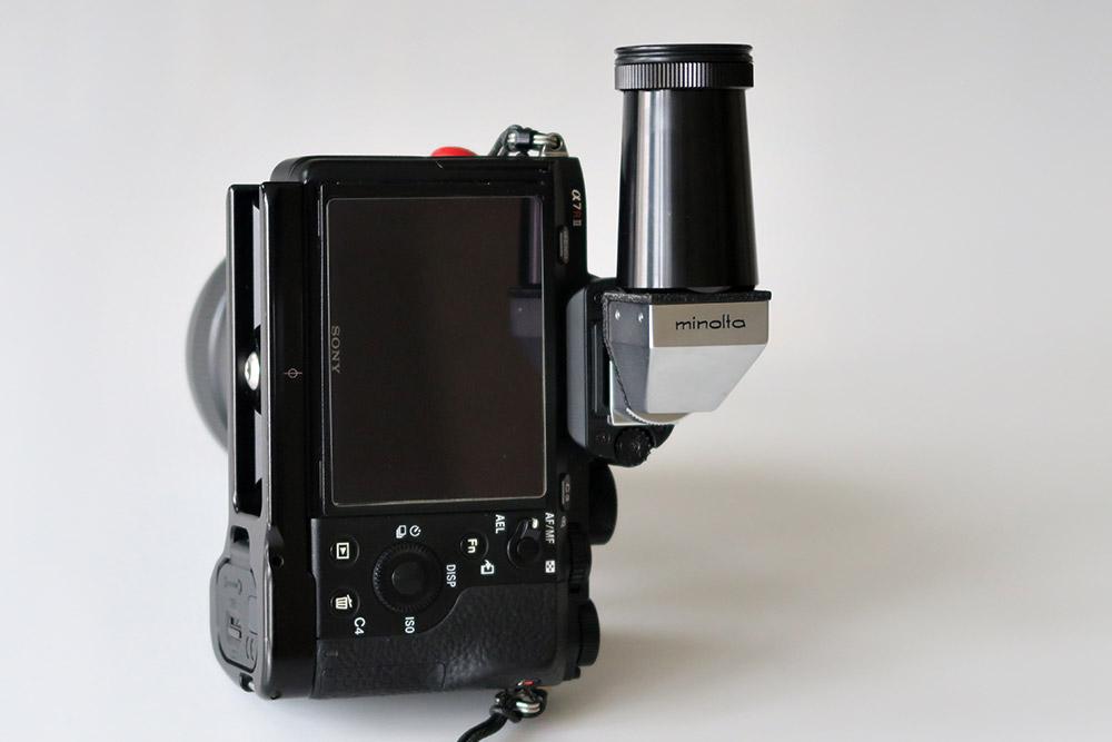 Viseur d'angle Minolta sur Sony A7R2